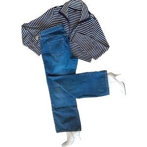 Halogen  Mid/Rise Jeans (Moderate Bootcut Leg)